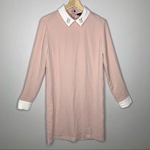 Victoria Beckham pink Long Sleeve Rabbit Dress